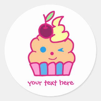 Cheeky Cupcake Round Sticker