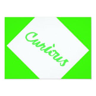 CHEEKY CURIOUS QUALITY COMMENT SHOUTOUT ABOUT ME E 13 CM X 18 CM INVITATION CARD