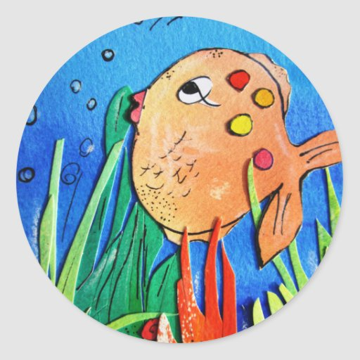 Cheeky fish -pixi-art.com sticker