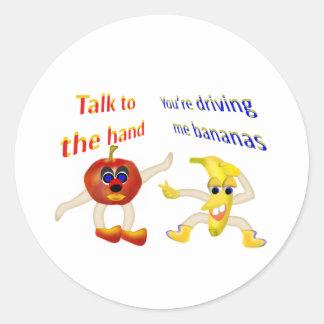 Cheeky Fruit Round Sticker