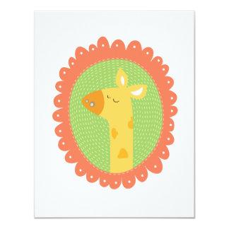 Cheeky Giraffe 11 Cm X 14 Cm Invitation Card