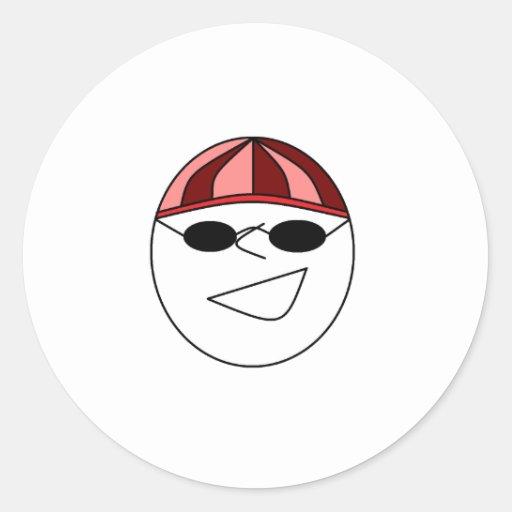 Cheeky Grin Round Sticker
