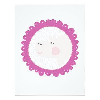 Cheeky Hippo 11 Cm X 14 Cm Invitation Card