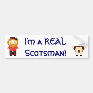 Cheeky - I'm a REAL Scotsman - Cartoon Vector Bumper Sticker