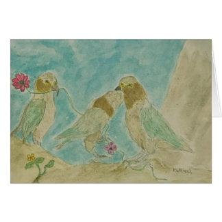 cheeky kea parrots card