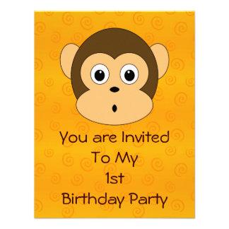 Cheeky Monkey Birthday Party Invitation
