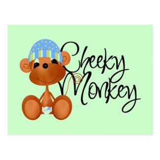 Cheeky Monkey - Boy Tshirts and Gifts Postcard