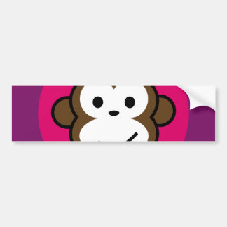 Cheeky Monkey Bumper Sticker