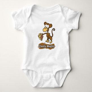 Cheeky Monkey Cartoon Design Baby Bodysuit