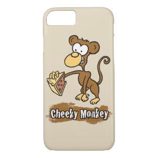 Cheeky Monkey Design has Monkey Enjoying Cake iPhone 8/7 Case