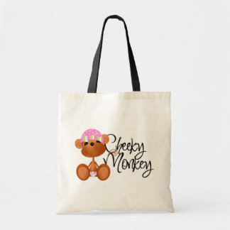 Cheeky Monkey - Girl Tshirts and Gifts Budget Tote Bag