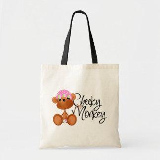 Cheeky Monkey - Girl Tshirts and Gifts Budget Tote Bag