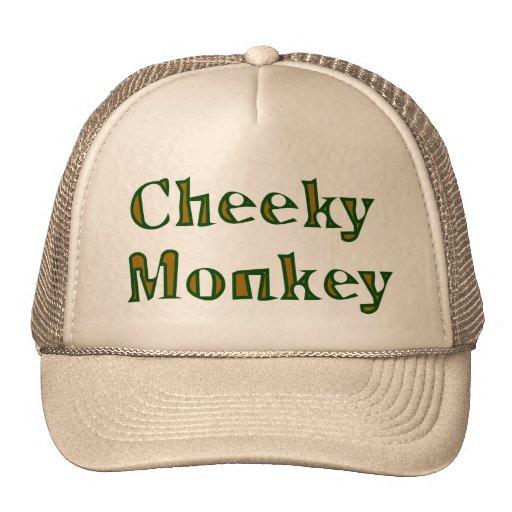 cheeky monkey mesh hat