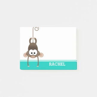 Cheeky Monkey Personalised Post-it Notes