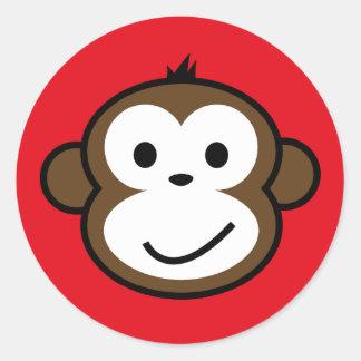 Cheeky Monkey Round Sticker