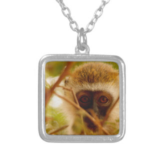 Cheeky Monkey. Silver Plated Necklace