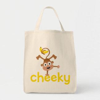 Cheeky Monkey Grocery Tote Bag