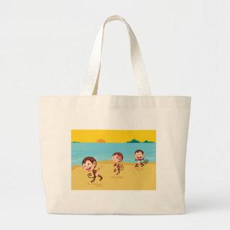 cheeky monkeys canvas bags
