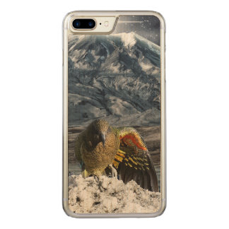 Cheeky new zealand kea mountain parrot carved iPhone 8 plus/7 plus case