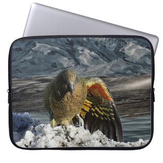 Cheeky new zealand kea mountain parrot laptop sleeve