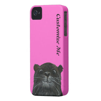 cheeky otter neon pink iphone 4  case cover