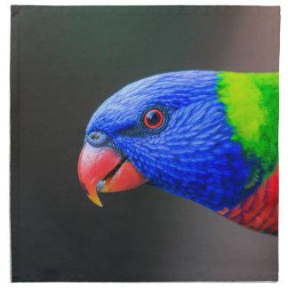 Cheeky-Rainbow-Lorikeet-silkenphotography Napkin