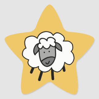 Cheeky Sheep Star Sticker