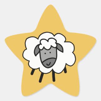 Cheeky Sheep Star Sticker