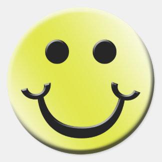 Cheeky Smile Round Sticker