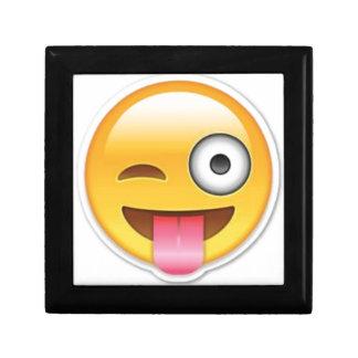 Cheeky Smiley emoji wink Gift Box