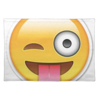 Cheeky Smiley emoji wink Placemat