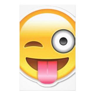 Cheeky Smiley emoji wink Stationery
