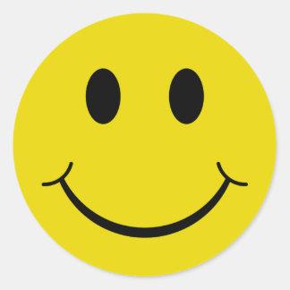 Cheeky Smiley Round Sticker