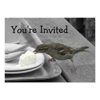 Cheeky Sparrow Invitations