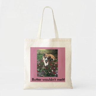 Cheeky St Bernard Pup Tote Bag