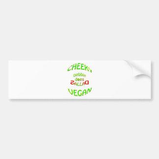 cheeky vegan , debbie does sallad bumper sticker
