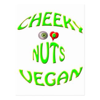 cheeky vegan i love nuts postcard