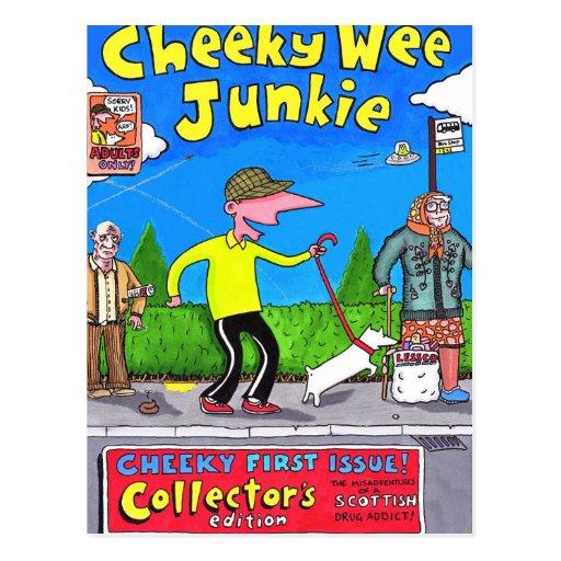 Cheeky Wee Junkie - Postcard