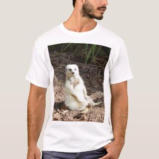 Cheeky White Meerkat, T-Shirt