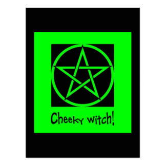 Cheeky Witch green collection Postcard