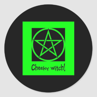 Cheeky Witch green collection Round Sticker
