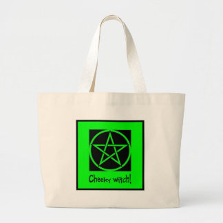 Cheeky Witch green collection Jumbo Tote Bag