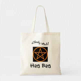 Cheeky Witch Hag Bag - Orange Pentagram