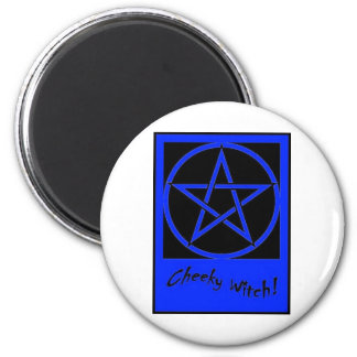 Cheeky Witch Pentagram Collection (Blue) Magnet
