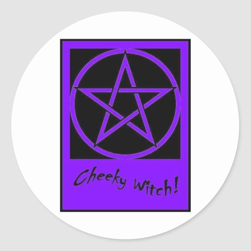 Cheeky Witch Pentagram Collection (Purple) Stickers