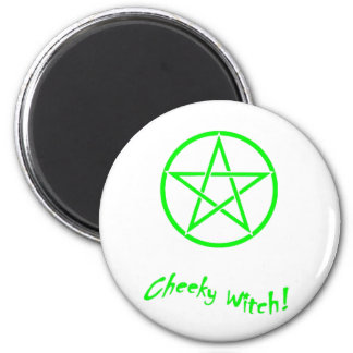 Cheeky Witch Star Collection (Green) 6 Cm Round Magnet