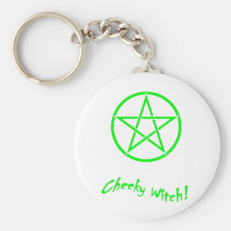Cheeky Witch Star Collection (Green) Basic Round Button Key Ring