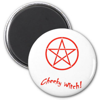 Cheeky Witch Star Collection (Red) 6 Cm Round Magnet