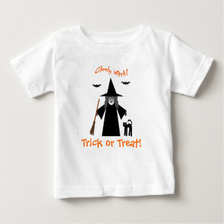 Cheeky Witch Trick or Treat Baby T Shirt