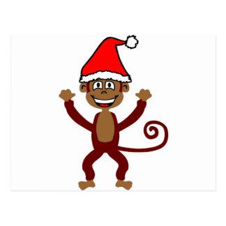 Cheeky Xmas Monkey Postcard